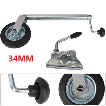 34MM Jockey Wheel With Clamp - Telescopic Plastic Rim Caravan Trailer garden accessories outdoor gardening tools and equipment
