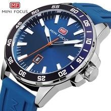 MINIFOCUS Army Military Watch Men Fashion Men's Watches Quartz Watches For Men Clock Luxury Brand Blue Rubber Strap Date Display все цены