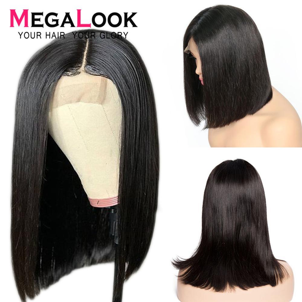 180 Density Short Lace Closure Human Hair Wig 1B 27 Ombre Brazilian 4 4 Lace Closure