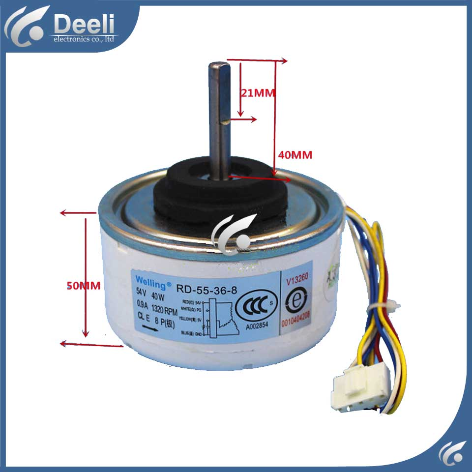 new good working for Air conditioner Fan motor machine motor 40W RD-55-36-8 0010404208 DC motor good working