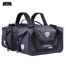 Купить с кэшбэком WOSAWE 50L Waterproof Motorcycle Saddle Bag Riding Travel Bags Racing Moto Helmet Bags Travel Luggage Saddlebags PVC1000D