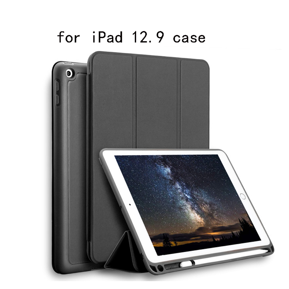High-quality TPU silicone soft shell case Case for iPad Pro 12.9 2017 Pouch Bag Cover with Pencil Slot for iPad Pro 12.9 цена