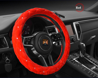 Hot car styling autumn winter studded rhinestone covered plush car steering wheel car covers 38cm diamond.jpg 200x200