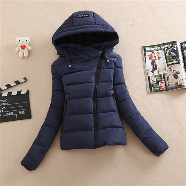 Jacket Coat 2016 Women Cotton Down Parkas With Luxury Large Fur Collar Hood Thick Coat Outwear women plus size coat
