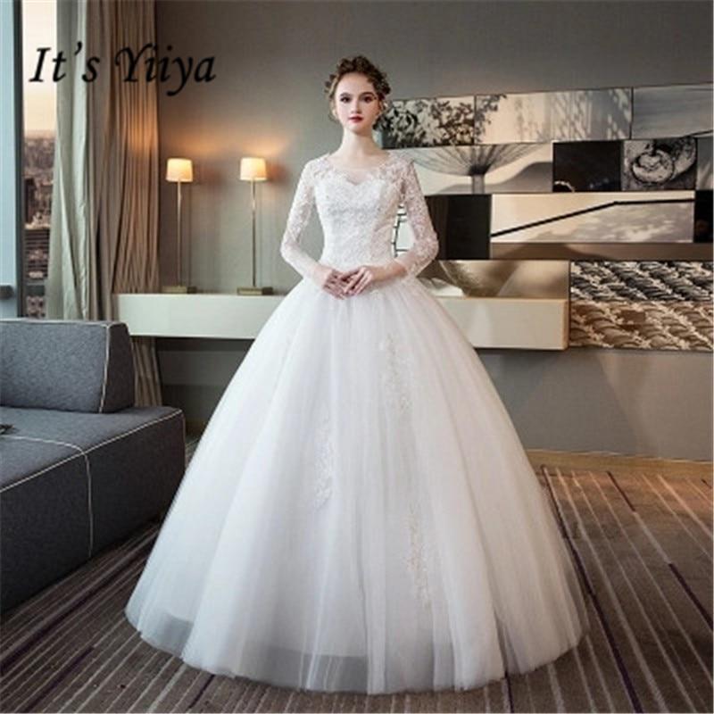 Elegant Simple Long Sleeve Wedding Dress: It's YiiYa Simple Long Sleeve Wedding Dresses Elegant