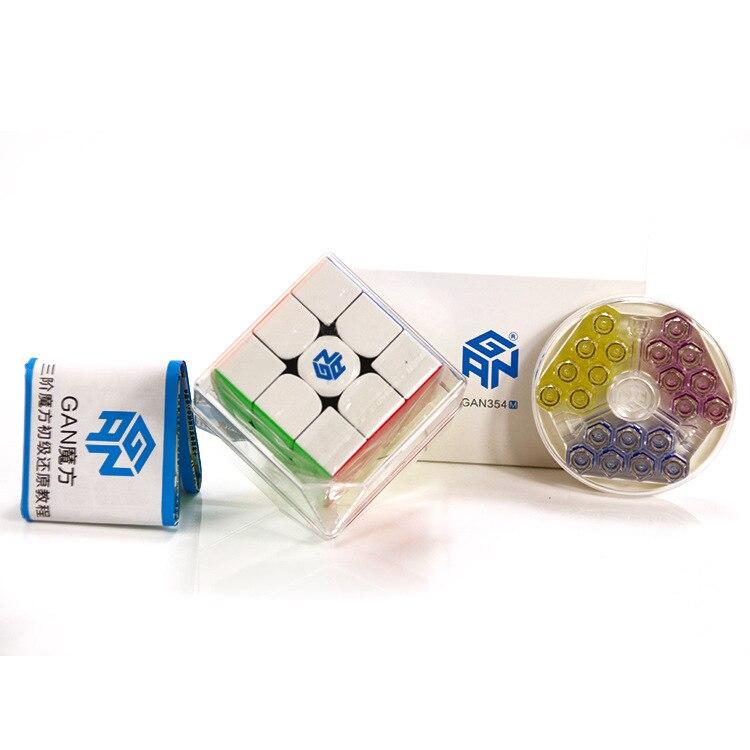 Gan354 M Original Gan354M 3x3x3 Cube magnétique Gans 3x3x3 Cube magique professionnel GAN 354 M 3x3 vitesse Cube Twist jouets éducatifs - 4