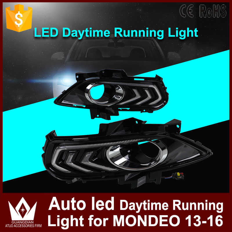 1Set Car Led DRL Daytime Running Light Only White Color LED Auto Fog Lamp Car Styling For Ford Mondeo Fusion 2013 2014 2015 2016 eonstime 2pcs 12v car drl led daytime running light fog lights for ford mondeo fusion 2013 2014 2015 2016 car styling