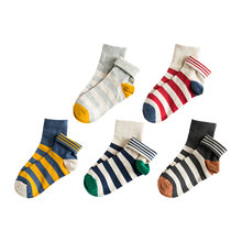 Autumn and winter  colorful Cotton Stripe Sport socks candy color patchwork causal