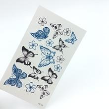 5pcs Butterfly Fashion Temporary Tattoo Stickers Temporary Body Art Waterproof Tattoo Pattern HC03
