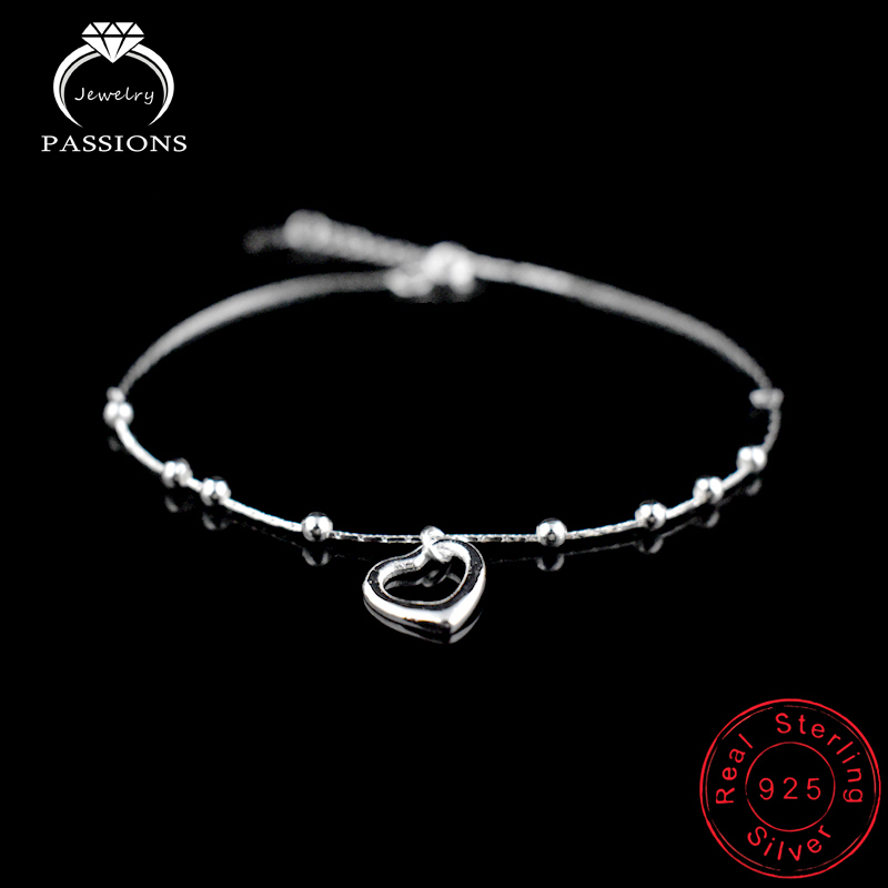 New Fashion Foot Anklet 925 Sterling Ladies Sølv Kugle Armbånd - Mode smykker - Foto 4