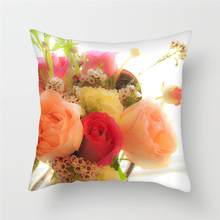 Fuwatacchi Romantic Flower Oil Painting Decor Cushion Cover Plant Printed Pillows Case Sofa Seat Bed Car Soft Throw Pillow