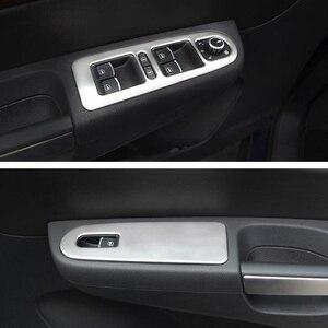 YAQUICKA 2 шт. Автомобильный интерьер передняя дверь подлокотник окно Лифт кнопка переключатель отделка Стайлинг наклейка для VW Sharan 2013 2014 2015 2016