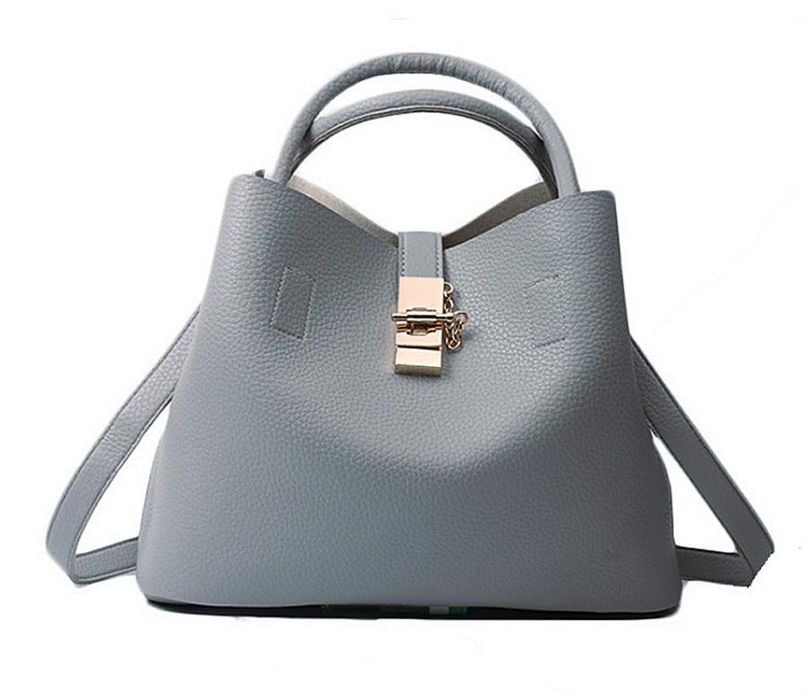Bags For Women PU Leather Handbags Crossbody Bag For Women Vintage Bucket Shoulder Handbag Sac Bag