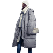 цены Women Winter Oversized Jackets Long Warm Coat Loose Bread Style 2017 Ladies Parka Winterjas Dames Abrigos Mujer Invierno XH419