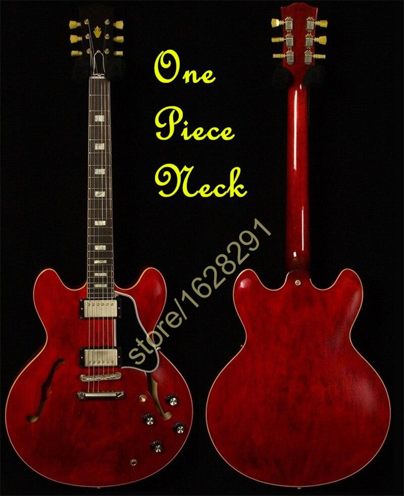 Лидер продаж красные ES 335 Электрический Гитары ra полые Средства ухода за кожей Китай Гитары Одна деталь Средства ухода за кожей шеи Бесплатн...