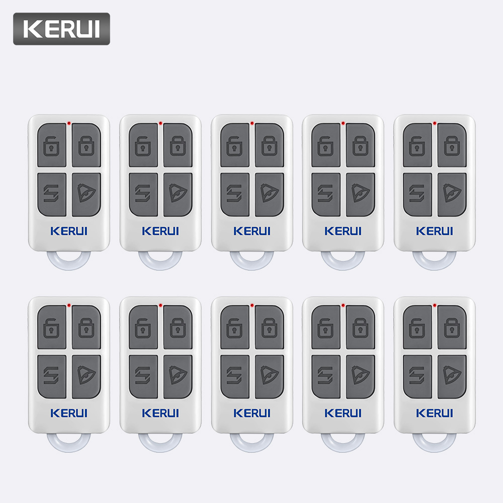 KERUI 10pcs Wireless Controller For W1 W2 W17 W18 W19 G18 G19 G183 G193 8218G 8219G Home Alarm System Remote ControlKERUI 10pcs Wireless Controller For W1 W2 W17 W18 W19 G18 G19 G183 G193 8218G 8219G Home Alarm System Remote Control