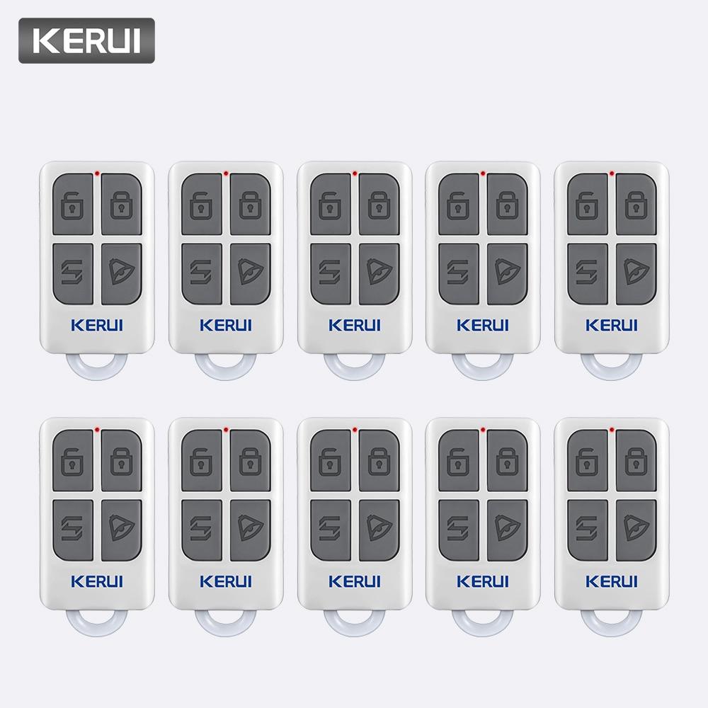 KERUI 10pcs Wireless Controller For W1 W2 W17 W18 W19 G18 G19 G183 G193 8218G 8219G Home Alarm System Remote Control