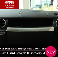 Chrome Car Dashboard Storage Grid Cover Trim Strips Sticker For Land Rover Discovery 4 2010 2017