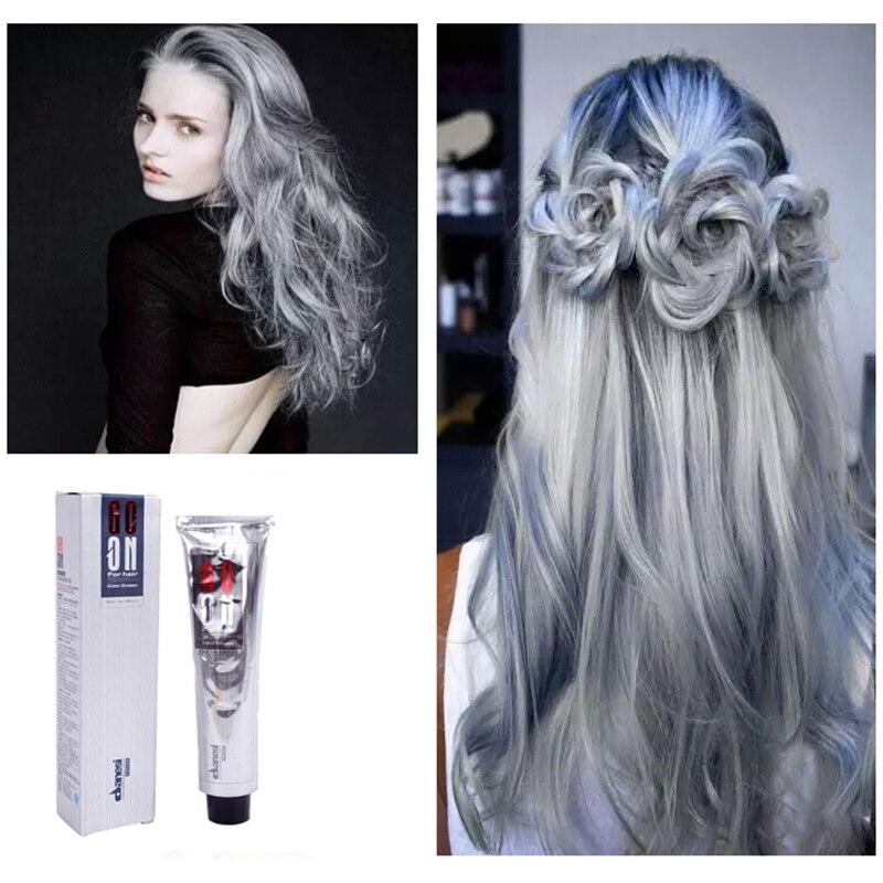 Aliexpress.com : Buy Sliver Gray Hair Color Dye Cream Grey Hair ...