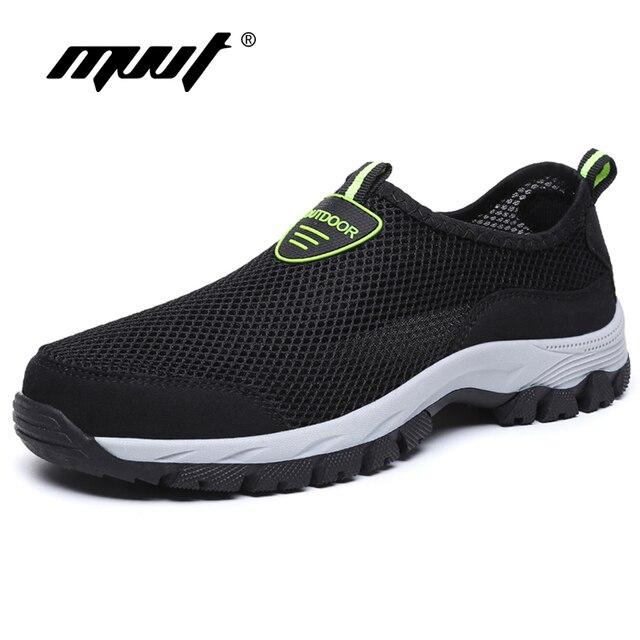 sale retailer e42e4 f7ff3 Plus Größe 48 Sommer Atmungsaktives Mesh Wandern Schuhe Männer Turnschuhe  Quikdry Outdoor Wasser Sport