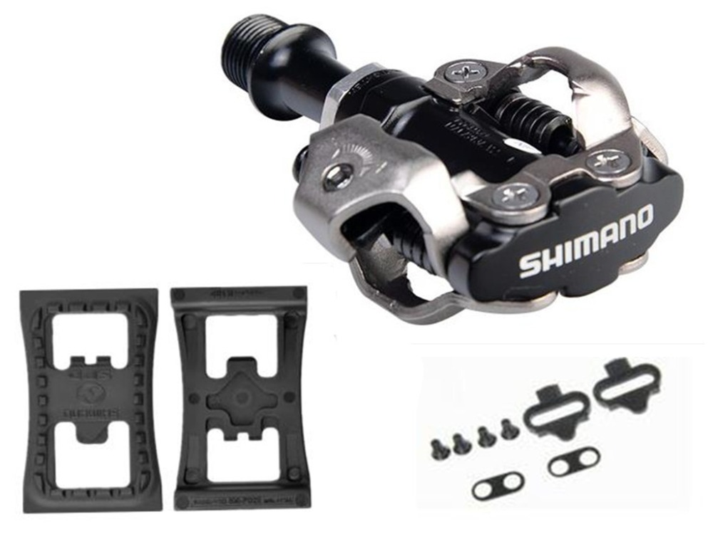 SHIMANO PD-M540 M540 Chrome-moly & Aluminum Compact MTB Bike Bicycle Cycling Self-Locking Pedal Clipless SPD SM-SH51 Cleats shimano pd m545 spd bicycle cycling pedal mtb mountain xc clipless bike incl sm sh51 cleats mountain bike pedals
