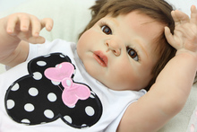 23 Inch Reborn Dolls Full Silicone Vinyl Baby Alive Dolls Realistic Princess Girl Kids Birthday Xmas Gift