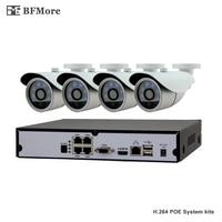BFMore SONY 323 1080P POE 4CH NVR Kit CCTV System IP Camera P2P IR IP66 Outdoor