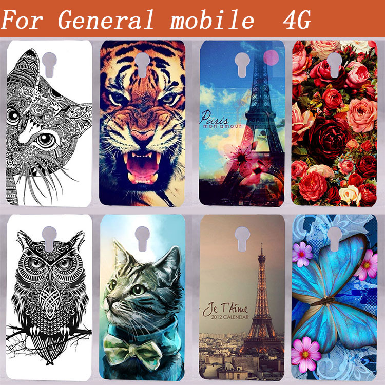 For General Mobile 4G Case Cover Luksus Diy Maling Farget myk Tpu Case for General Mobile 4G 5,0 Tomme Mobiltelefon Cover Bag