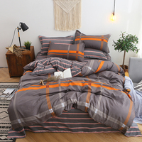 BEST.WENSD Comforter set Jacquard stripe bed linen king queen cotton bedding sets quilt cover bed sheet pillowcases bedclothes