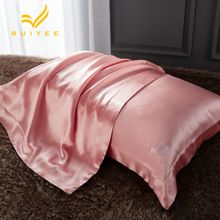 16m/m Envelope pillow case Single side mulberry Silk Pillow RUIYEE brand Rose embroidery Cover 100%