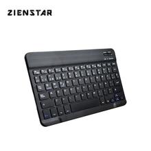 "Zienstar Ultra Slim 10 ""ספרדית אלחוטי Bluetooth מקלדת עבור IPAD, MACBOOK, מחשב נייד, מחשב מחשב לוח, סוללה נטענת"