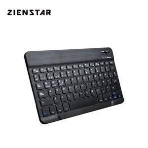 "Image 1 - Zienstar ultra cienki 10 ""hiszpański bezprzewodowa klawiatura do ipada Bluetooth, MACBOOK, LAPTOP, komputer PC i Tablet, akumulator"
