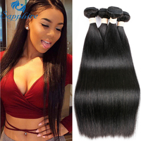 Sapphire Straight Remy Human Hair 4Bundles Natural Black 1B Salon Hair Longest Hair PCT 5 Brazilian