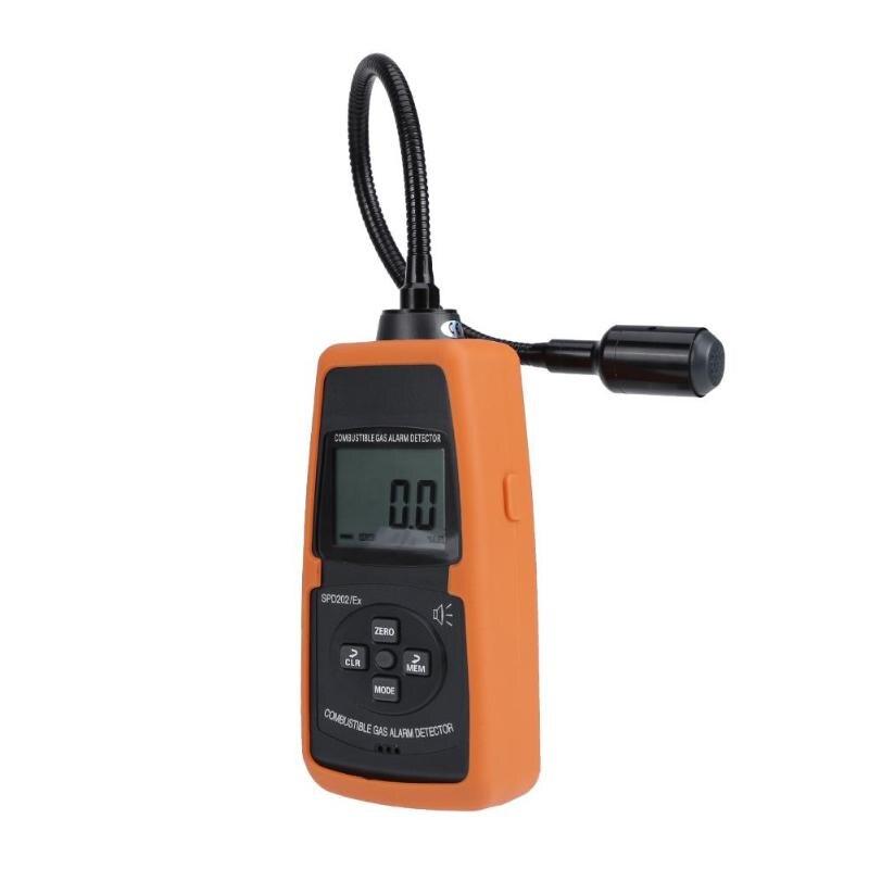 SPD202 Mini Combustible Gas Detector 50-50000ppm Automotive Gas Analyzer Gas Leakage Location Tester Sound Light Alarm Analyzer 2016 new handheld formaldehyde gas detector sound alarm gas analyzer