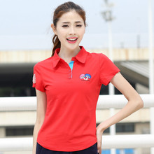 Ruoru M- 6XL Large Size Brand Mushroom Embroidery Women Polo Shirt Casual Ladies Polo Shirt Slim Polo Femme Women Cotton Polo