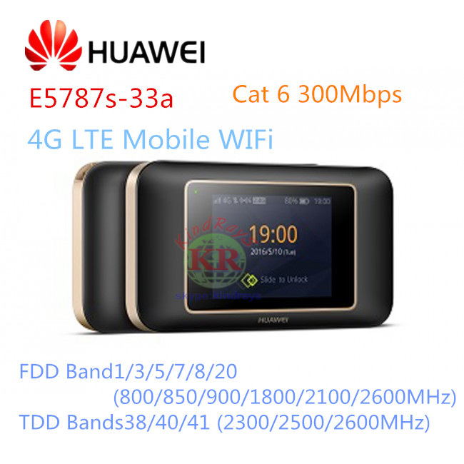 Huawei E5787 E5787s-33a LTE Cat6 Mobile WiFi Hotspot 300Mbit/s TouchScreen Display With sim card slot