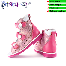 Princepard 2018 orthopedic shoes for children sandals baby casual sandals boys girls sandals Orthopedic footwear for kids 2017 summer girls sandals boys sandals kids casual flat shoes for children footwear candy colors