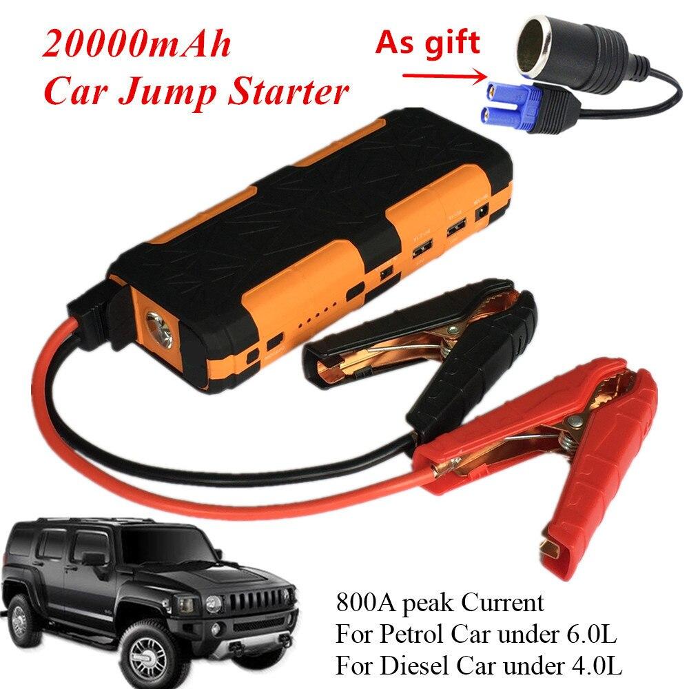 Haute Puissance 12 V 800A led Voiture Jump Starter Portable D'urgence Chargeur de Batterie batterie externe De Voiture Booster Buster Dispositif de Démarrage CE