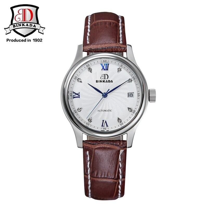 все цены на BINKADA Women Luxury Brand Elegant Ladies Wristwatch Tungsten Steel Women Mechanical Watches Clock Female Fashion Casual Watch