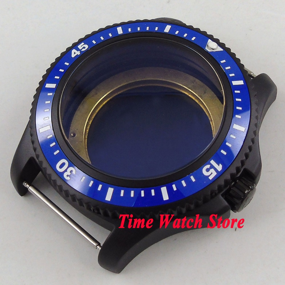 44mm PVD coated blue ceramic bezel Watch Case fit ETA 2836 DG2813 3804 MIOTA 8215 8205 821A movement C1444mm PVD coated blue ceramic bezel Watch Case fit ETA 2836 DG2813 3804 MIOTA 8215 8205 821A movement C14