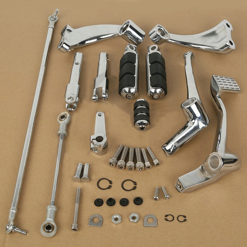 For Harley Sportster 883 1200 Chrome Forward Controls Kit Pegs Levers Linkage сумка love moschino сумка
