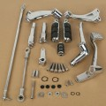 For Harley Sportster 883 1200 Chrome Forward Controls Kit Pegs Levers Linkage