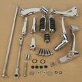 Para Harley Sportster 883 1200 Cromo Frente Controles Kit Estacas Alavancas de Articulação