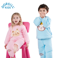 Dorsill Baby warm underwear suit coat and cotton padded jacket 6M-24M thickening Children's pajamas in autumn and winter