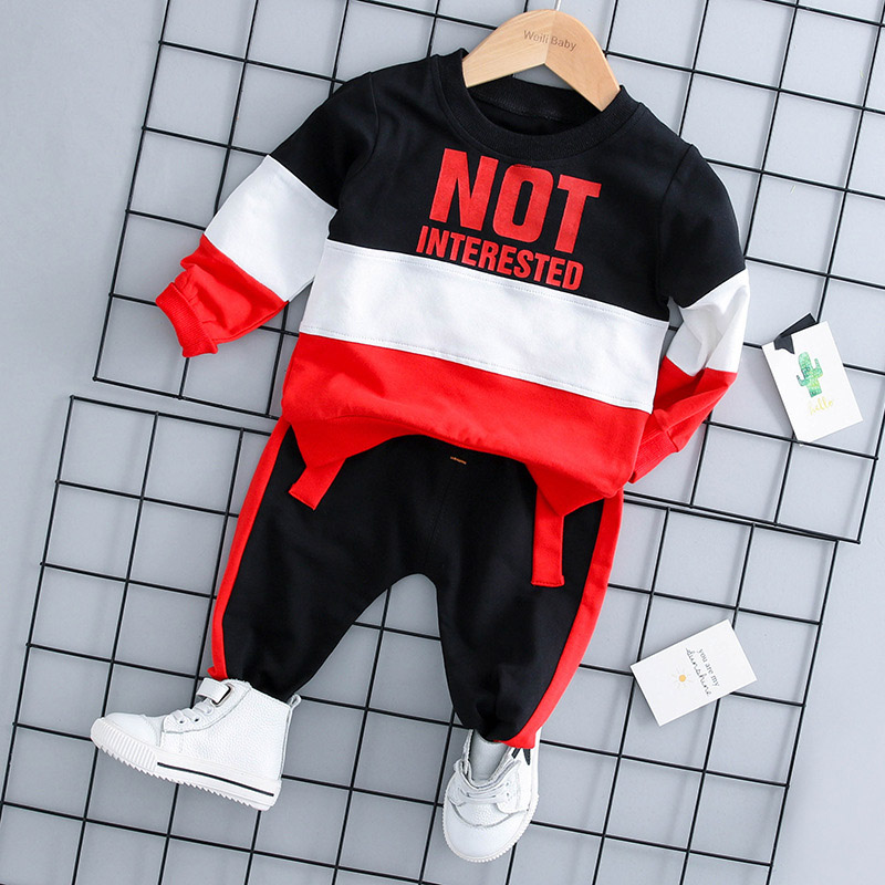 Infant Clothing 2018 Autumn Winter Baby Boys Clothes Set T-shirt+Pants 2pcs Outfits Kids Clothes Baby Set Newborn Baby Clothes new baby boy clothes fashion cotton short sleeved letter t shirt pants baby boys clothing set infant 2pcs suit baby girl clothes