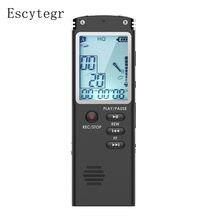 Escytegr 8GB/16GB/32GB dyktafon cyfrowy nagrywanie dźwięku aktywowana głosem nagrywanie telefonu odtwarzacz MP3 dyktafon