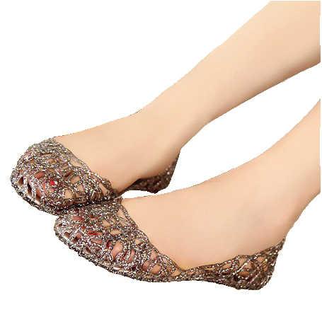 Yeni 2017 yaz kadın sandalet nefes ayakkabı kristal jöle yuva kristal sandalet kadın düz sandalet ayakkabı kadın