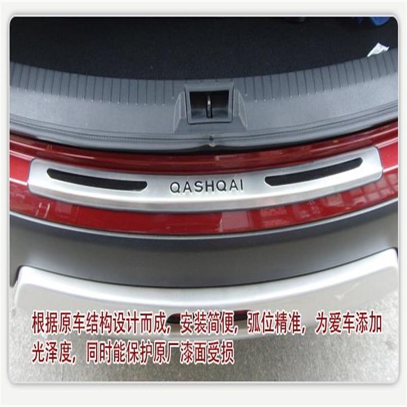 Accessoires de voiture pour Nissan Qashqai 2007-2012 2013 extérieur en acier coffre arrière pare-chocs porte seuils seuil plaque protecteur garnitures 1 pièces