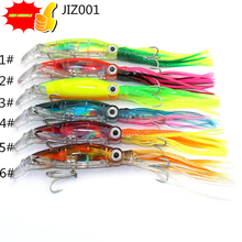 Octopus Fishing Bait Squid Soft lure 42G 14CM   Peche Hard Bait Bass Fishing Hook Pesca Acessorios fishing accessories