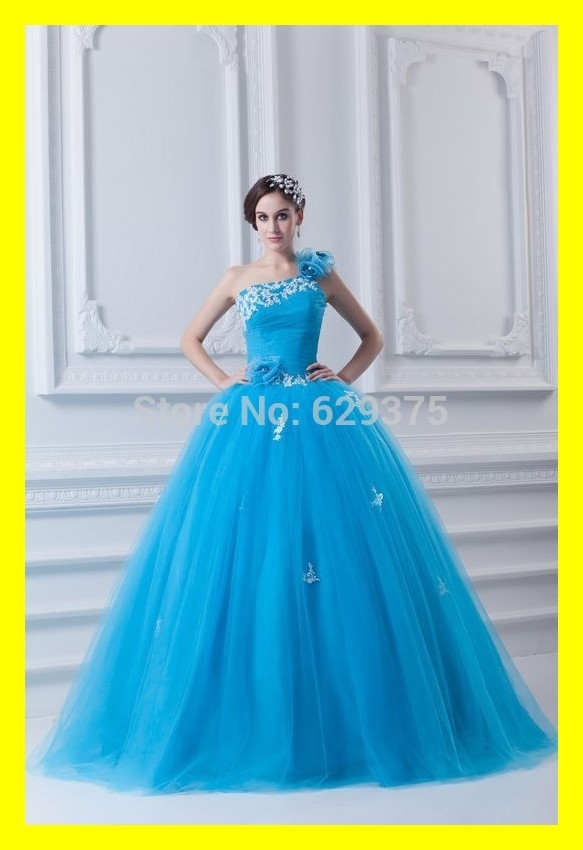 Long Prom Dresses Under Girl White Puffy Quinceanera Cheap Built In